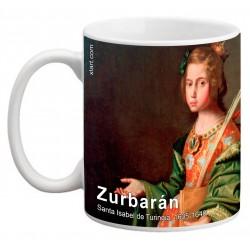 "ZURBARÁN. ""Santa Isabel de Turingia"". Mug"
