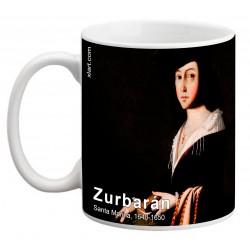 "ZURBARÁN. ""Santa Marina"". Mug"