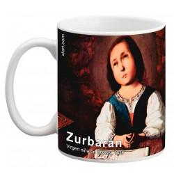 """ZURBARÁN. """"Virgen niña en éxtasis"""". Mug"""