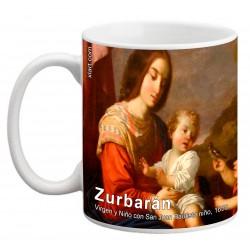 """ZURBARÁN. """"Virgen y Niño con San Juan Bautista niño"""". Mug"""