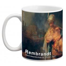 "REMBRANDT, ""David despidiéndose de Jonatán"" Mug"