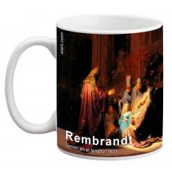 """REMBRANDT, """"Simón en el templo"""" Mug"""