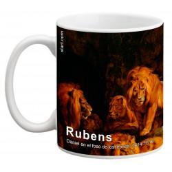 """RUBENS, """"Daniel en el foso de los leones"""" Mug"""