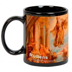 """RUBENS, """"Los Milagros de San Francisco de Paula"""". Mug negro"""