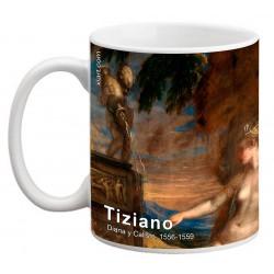 "TIZIANO, ""Diana y Calisto"" Mug"