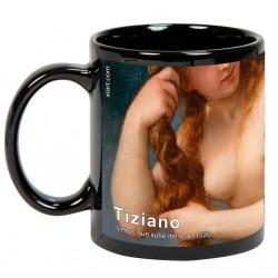 "TIZIANO, ""Venus que sube del mar"" Mug negro"