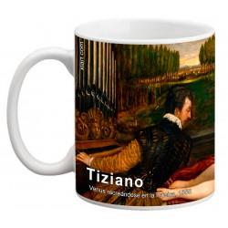 """TIZIANO, """"Venus recreándose en la música"""" Mug"""