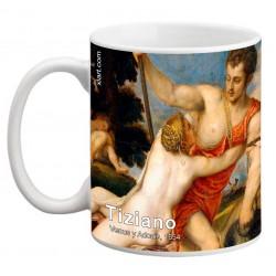 "TIZIANO, ""Venus y Adonis"" Mug"