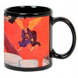 """Paul GAUGUIN. """"La lucha de Jacob con el ángel"""". Mug negro"""