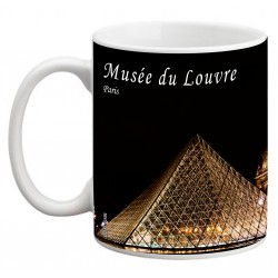 "PARÍS. ""Museo del Louvre"". Mug negro"