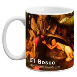 """EL BOSCO. """"San Jerónimo en oración"""". Mug"""