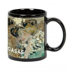 """Ramón CASAS. Mug  """"Celebrations in Toulon"""""""