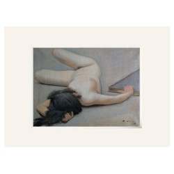 "Ramon CASAS ""Female Nude"" Passpartout Lienzo"