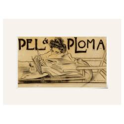 "Ramon CASAS ""Pel i Ploma"" Passpartout Lienzo"