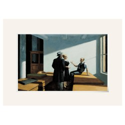 HOPPER, Conference at Night. Passpartout Lienzo
