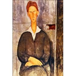 MODIGLIANI. Portrait of a Young Man. Lienzo algodón