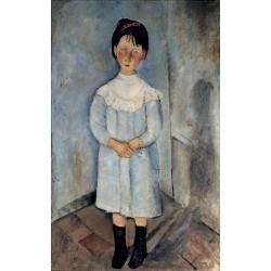 MODIGLIANI. La bambina in azzurro Lienzo algodón