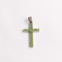 Cruz Swarovski verde