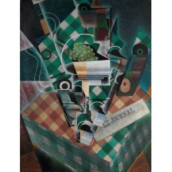 JUAN GRIS. Nature morte à la nappe à carreaux.