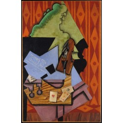 JUAN GRIS. Violin and Playing Cards on a Table