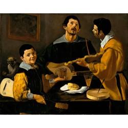 VELÁZQUEZ. Tres músicos.