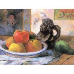 GAUGUIN. Manzanas, peras y cerámica
